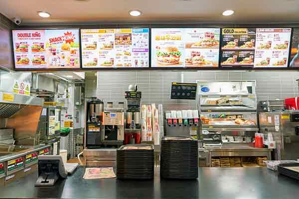 fast food restaurants decor mfine