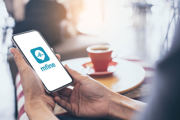 mfine app on phone tested positive for covid